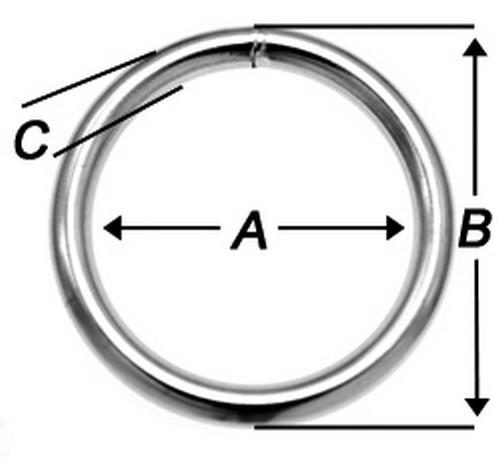 Rundringe 40mm x 5,0mm Stahl vernickelt O-Ringe Rundring O Ring O-Ring 50 St