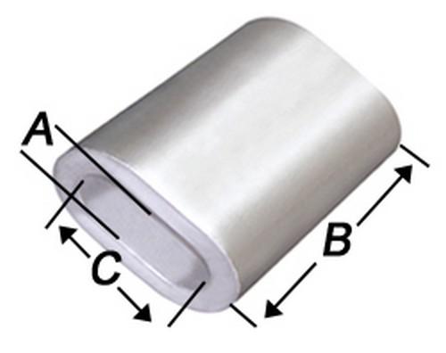 Aluminium Pressklemmen 1,5mm Alupressklemmen Alu Presshülsen DIN Drahtseilklemme