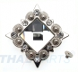 Strass Concho Weiss eckig 35mm Concha Conchos Conchas