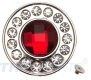 10er Pack Strass Concho Rot rund 35mm Concha Conchos Conchas