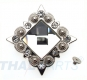 10er Pack Strass Concho Weiss eckig 35mm Concha Conchos Conchas
