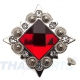 10er Pack Strass Concho Rot eckig 35mm Concha Conchos Conchas